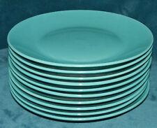 """LOVELY SET OF 10 TURQUOISE/AQUA ROYAL NORFOLK 11"""" DINNER PLATES!!"""