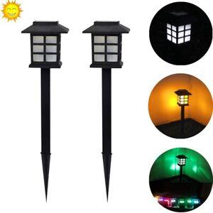 Outdoor Solar Power LED Lights Walkway Garden Landscape Path Yard Lighting Lamp