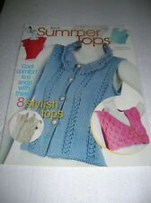 Annie'S Attic Knitting ~ Knit Summer Tops ~ 8 Design Patterns ~ 873792