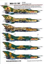 Hungarian Aero Decals 1/72 MIKOYAN MiG-21 MF Jet Fighter