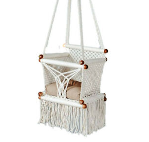 Macrame swing chair Handmade Baby shower gifts Outdoor Hammock Organic Cotton