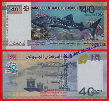 DJIBOUTI 40 Francs francos 2017 Commemorative Independence Shark Pick new UNC
