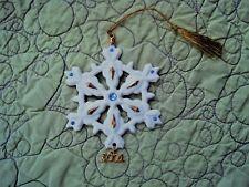 Lenox 2001 China Snowflake Limited Edition NIB w COA