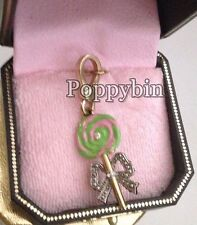 VERY RARE! BRAND NEW JUICY COUTURE LOLLIPOP BRACELET CHARM IN TAGGED BOX