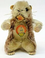 """1960's Steiff PIFF Gopher or Groundhog? 4"""" tall with tags"""