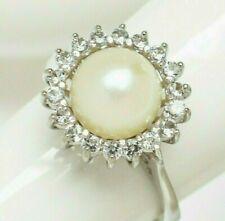 Perlen Schmuck Fingerring Weißgold  vergoldet echte Süßwasserperlen Zuchtperlen