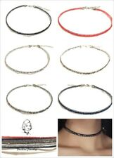Slim Crystal Choker Necklace Classic Gothic Tattoo Retro Sparkly Party Gift UK