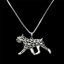 Artistic Silver Plated Standard Schnauzer Dog Charm Necklace Pendant