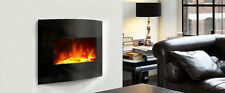 "30"" Curved wall mounted / freestanding Electrical Fireplace"