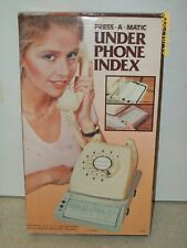 True Vintage Retro PRESS-A-MATIC Under Phone Index - Brand New in Box