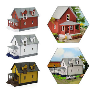 1pc/3pcs HO Scale 1:87 Model House Residential Building Architectural Diorama
