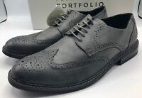 Perry Ellis Welton Dress Shoes Men's Size 10.5 Grey New!