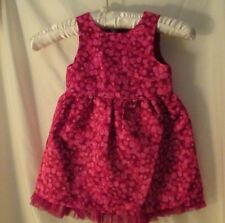 NWT Baby Girl Cat & Jack Sleeveless Pink multi Silky tulle trim dress set  18 Mo