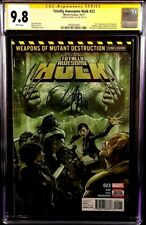 MARVEL Comic TOTALLY AWESOME HULK #22 CGC SS 9.8 IMMORTAL 1st WEAPON H WOLVERINE