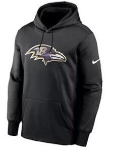 Nike Men's Baltimore Ravens Therma Prime Logo Hoodie Sweatshirt Medium M NFL