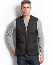 $129 NWT Barbour Black XL 46-48 Polar quilted waistcoat men's country wear Vest