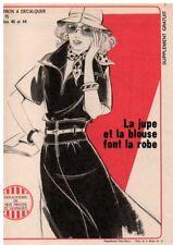 ▬► PATRON Écho de la Mode - Jupe et Blouse = Robe  T40 à 44 - N°15