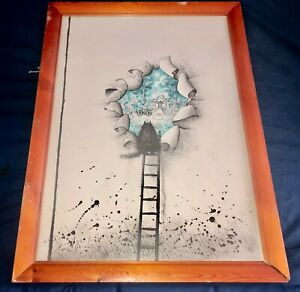 Ronald Searle cat thought dream picture print