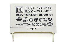 1x 0,22µF X2 + 47Ω 250V~ ERO F1776-422-3470 (Kondensator,RC-Glied,RC-Unit)E120