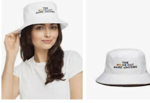 the marc jacobs The Pride Bucket Hat White