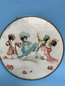 ( Sorry Firm Price )   Black Americana Round Plaque- Free Inter. Shipping