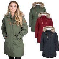 Trespass Womens Parka Jacket Waterproof Winter Coat Fleece & Fur Hood
