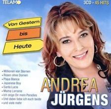 """Andrea Jürgens-45 Hits auf 3 CDs !""""Von Gestern Bis Heute""""+ Autogramm -original!"""