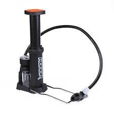 Portable Bicycle Floor Pump Car Bike Tire Tyre Foot Pedal Inflator with Gauge