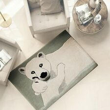 Bathroom Rug Living Room 100% Wool 60x90 CM Down Bed Softest Bear
