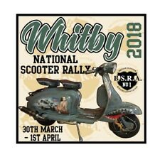 STICKER 2018 WHITBY SCOOTER RALLY PATCH MODS SKINHEADS not PADDY SMITH