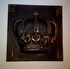 """Large, 16 """" X 16"""", Royal, Crown, Wall Plaque, Old World, Tuscan, Medieval, King"""