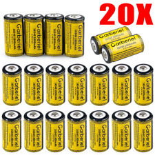 20PCS 3.7V 1800mAh Lithium Battery CR123A 123 CR123 16340 Batteries For Torch US