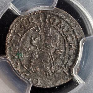 1658, Wallachia, Mihnea III. Bronze Schilling Coin. Scarce Variety! PCGS XF+