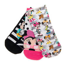 Disney Minnie Mouse Socks 3 Pairs Ankle Socks Fashionista Mickey Mouse New