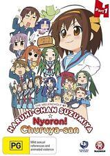 The Melancholy of Haruhi-Chan Suzumiya & Nyoron! Churuya-San 1 - Yuki DVD R4 NEW