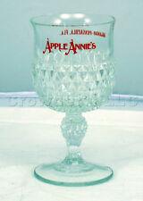 Apple Annie's Orlando Florida Clear Studded Geometric Pattern Liquor Wine Glass