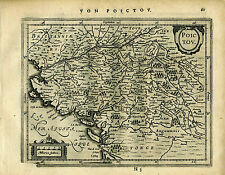 1651 Antique map of Coast Western France. by Mercator Jansson