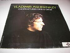 """Vladimir Ashkenazy Chopin Edutes Op. 10 & Op. 25 12"""" LP NM Decca 6.41991 1975"""