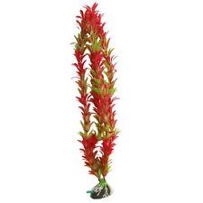 """E5U8 Aquarium Air Stone Red Green Artificial Aquatic Plant Ornament 15"""" I3F7"""