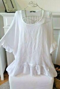 T-Shirt  Sweatshirt Longshirt oversize onesize  ca  44,46,48, L,XL,XXL weiß