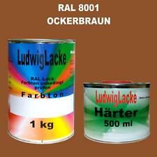 RAL 8001 Ockerbraun 1,5 kg SET Matt Lack & Härter unverdünnt
