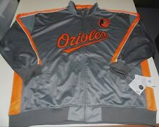 BALTIMORE ORIOLES ZIP FRONT TRACK JACKET MENS SZ 4XL-GRAY- NWT