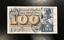 SWITZERLAND-100 FRANCS-1971-PICK 49m , CHOICE UNC .