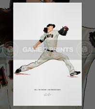 "Tim Lincecum ""The Freak"" San Francisco Giants Baseball Illustrated Print Poster"