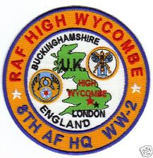USAF BASE PATCH, RAF HIGH WYCOMBE, BUCKINGHAMSHIRE ENGLAND, 8TH AF HQ, WW-2    Y