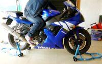 Universal Motorcycle Front & Rear Paddock Motorbike Bike Stand Track New