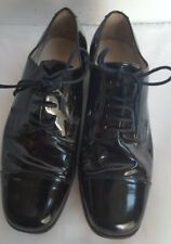 Andrew Fezza Mens Black Patent Leather Dress Formal Prom Wedding Shoes Size 7 M