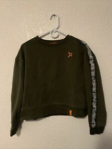 Orange Theory Green Pullover Long Sleeve Fitness Crop Sweatshirt Women's Size M