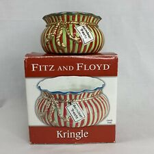 Fitz Floyd Kringle Candy Dish 2005 Reindeer Treats Christmas Decor
