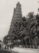 1928 Original INDIA Madura Great Temple South Tower Landscape Photo By HURLIMANN